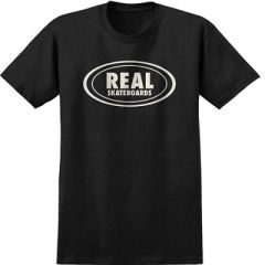 Real Oval Heather Black Discharger