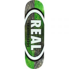 REAL TEAM DOUBLE DIP OVAL BLACK/GREEN DECK 8.75