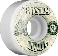 BONES WHEELS 100's OG Formula 51x32 V4 Skateboard Wheels 100a 4pk 1