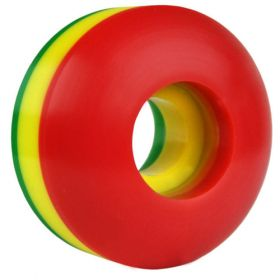 Blank Skateboard Wheel - 50mm 102A Rasta Tri-Color Set of 4