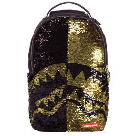 Sprayground Gold Sequin Shark