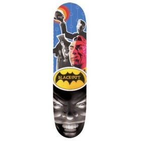 BLACK OUT Batman Logo Deck 7.75