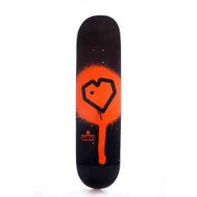 Blueprint Spray Heart Orange Deck 8.00