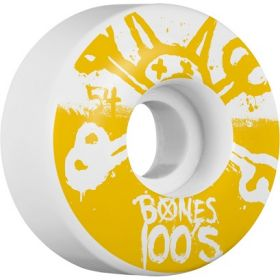 BONES WHEELS 100's 54X34 Nat 4pk