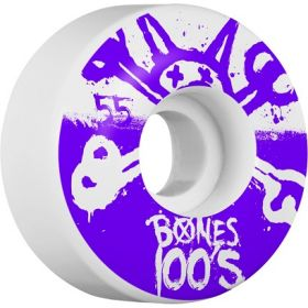 BONES WHEELS 100's 55X34 Nat 4pk