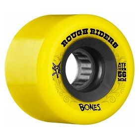 Bones Rough Riders 56mm Yellow Wheel 4pk