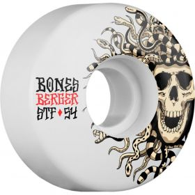 BONES WHEELS STF Pro Berger Medusa 54x30 V3 Skateboard Wheel 83B 4pk