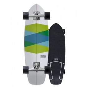 Carver 32.5 TRITON Green Glass Surfskate Complete