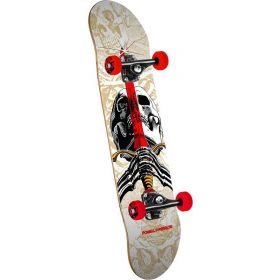 Powell Peralta Skull and Sword One Off Complete Skateboard Natural