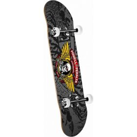 Powell Peralta Winged Ripper Complete Skateboard Silver