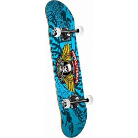 Powell Peralta Winged Ripper Complete Skateboard Blue