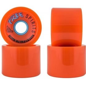 Free Wheels Spirits 70mm 78A Wheels Orange