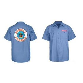 Powell-Peralta Skateboard Skeleton Work Shirt Blue