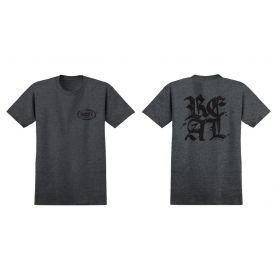 Real Old E Stacked Charcoal Heather/Black