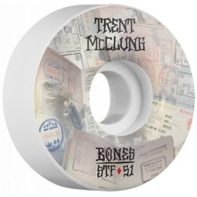 BONES WHEELS STF Pro McClung Passport 51x30 V1 Skateboard Wheels 83B 4pk