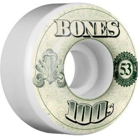 BONES WHEELS 100's OG Formula 53x34 V4 Skateboard Wheels 100a 4pk