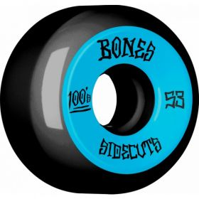 BONES 100's 53mm Black - Sidecut Wheels 4pk